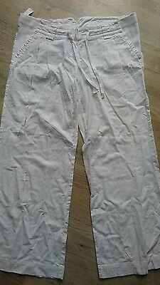 topshop white maternity trousers 14 summer
