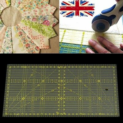 12''x 6'' Quilting Patchwork Ruler Premium Rotary Craft Rectangle Sewing Tool UK