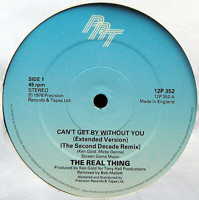 """THE REAL THING 'Can't Get By Without You' (12P 352) Vinyl 12"""" UK 1986 - VG+"""