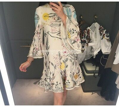 Women RUNWAY  Embroidery designer inspired summer dress white