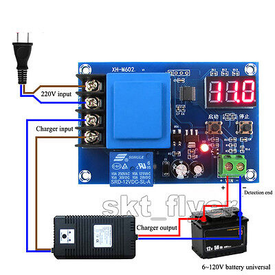 Digital Control Lithium Battery Charging Control Module AC 220V Switch Protect