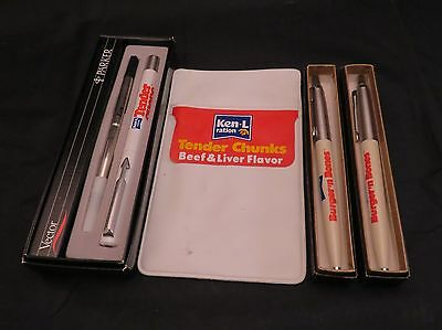 Vintage Ken-L-Ration Bundle, Pocket Protector and Three Parker Pens w/Boxes