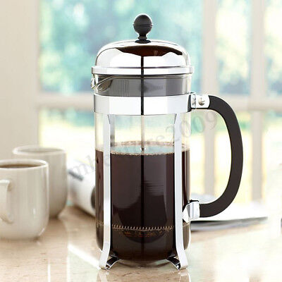 350ML French Press Coffee Maker Home Leaf Tea Carafe Stainless Filter Kettle Pot