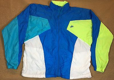 90's Vintage Nike White Tag Zip Front Running Track Jacket Sz S NR
