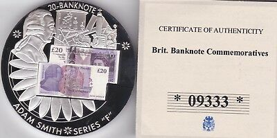 British Banknotes Proof Coin The White Note £20 20 Pound Banknote J Series