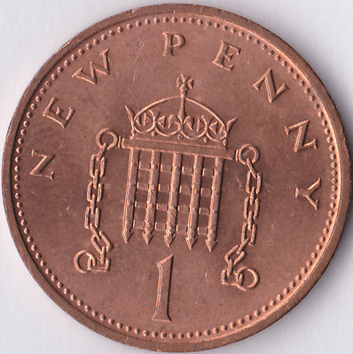 1971 1p One Penny Uncirculated Coin Royal Mint Single UNC