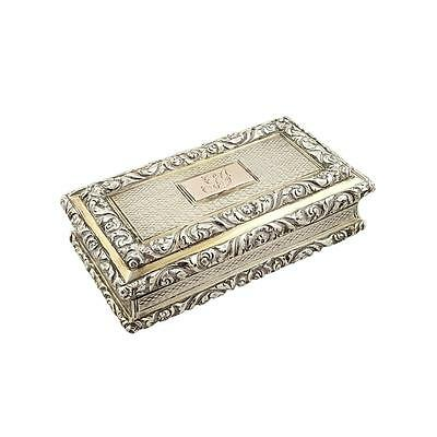 Antique Regency Sterling Silver Snuff Box 1827 - Nathaniel Mills