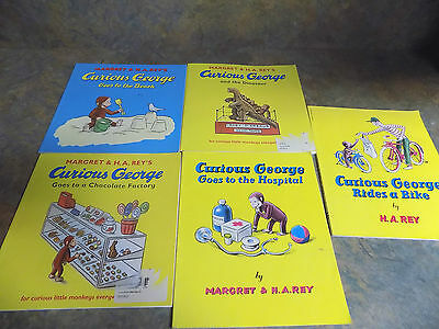Curious George Paperback Book Lot Of 5
