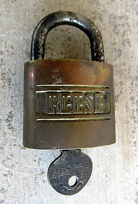 Vintage REESE Brass Lock & Key No. 2 Made in U.S.A.