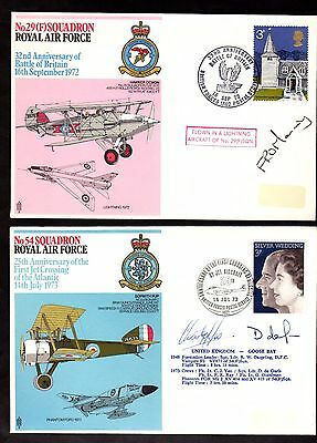 TWO x RAF & AIR Covers Signed ~ ROYAL AIR FORCE ~ Signatures Labels Missing