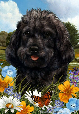 Garden Indoor/Outdoor Summer Flag - Black Cockapoo 182601