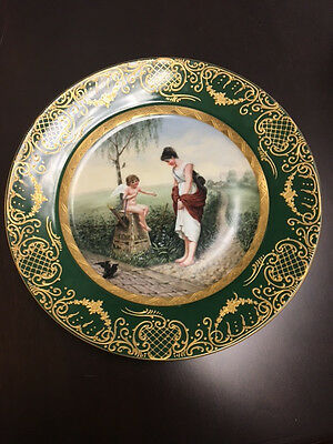 Authentic Royal Vienna Porcelain Plate  Am Scheidewege Antique