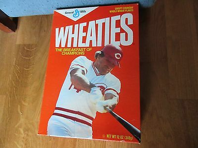 Wheaties Pete Rose Cereal Unopened Box 1986 Cereal Inside. 12 Oz