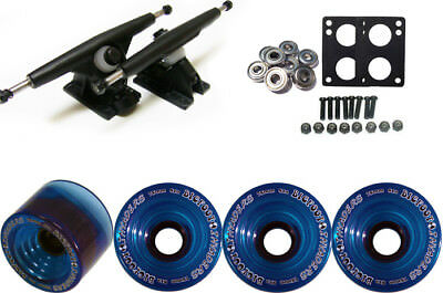 Randal 180Mm Black Longboard & Wheels Package Bigfoot 75Mm Invaders Blue