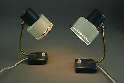 Pair of 1960s Bed Side Lamps Eames Panton Danish Modern Mid Century 50s 70s Era