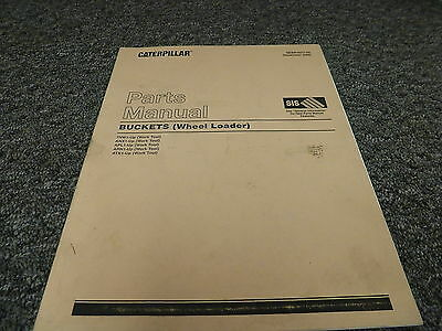 Caterpillar Cat Buckets on Wheel Loader Parts Catalog Manual 7NW ANX APL ARN ATK