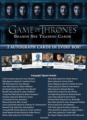 Game Of Thrones Season 6 Factory Sealed Box 2 Autos