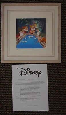 "S/O 1994 ""Wash Up"" Snow White and the Seven Dwarfs Disney Treasures Serigraph Fr"