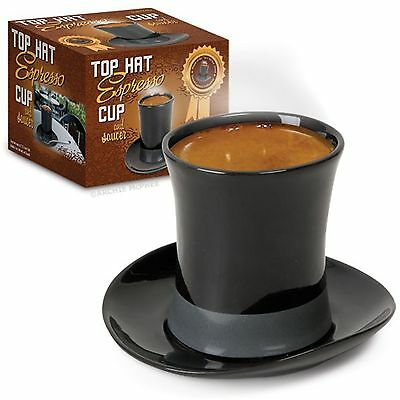 Top Hat Espresso Cup and Saucer - Novelty Fun Gag Gift