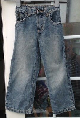 Next Boys Medium Blue Fade Style Straight Leg Denim Jeans - Aged 5 Yrs