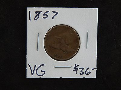 1857 Very Good Flying Eagle Cent - Minor Scratches