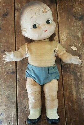 Horsman Composition Doll Vintage Campbell's Soup Campbell Kid Dolly Dingle AS IS