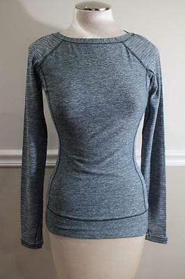 Lululemon Athletica Green Texture Long Sleeve Workout Top Size (S) (lu100