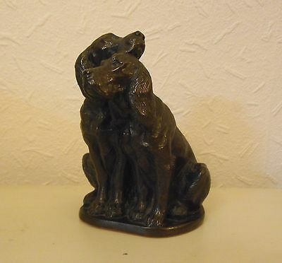 HEREDITIES Cold Cast Bronze SPRINGER SPANIELS Figurine ornamant model