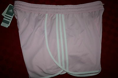 Women's Adidas Athletic Training Shorts Pink & White Xl4 Nwt