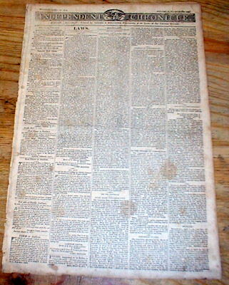 1814 War of 1812 newspaper MICHIGAN Territory BATTLE of LONGWOODS Ontario CANADA