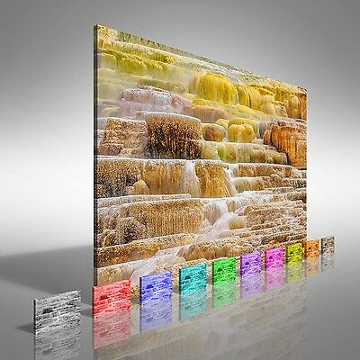 Yellowstone Palette Canvas Print Large Picture Wall Art