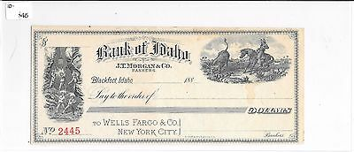 "1880's Blackfoot, ID ""Bank Of Idaho"" Check UNUSED"