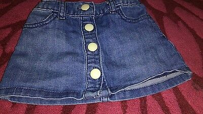 Baby Girls Gap Fab Modern Denim Skirt Age 12-18 Months So Cute Lqqk