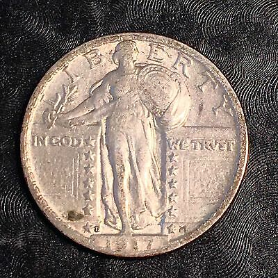1917-D Type 2 Standing Liberty Quarter - Clear Detail - High Quality Scans #E203