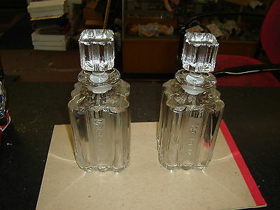 Art Deco Fostoria Sunray Rye and Scotch Whiskey Bottle Decanter,No Reserve