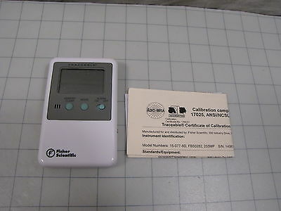 Fisher Scientific 15-077-8D Traceable Memory Monitoring Thermometer (no sensor)
