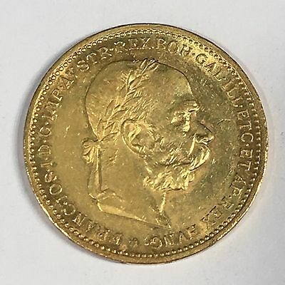 1904 Austria 20 Corona Gold Coin - High Quality Scans #D028