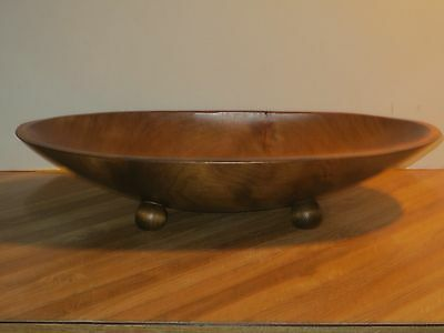 Adirondack Large Vintage Oval Wooden Dough Bowl Or Centerpiece Bowl, Marked