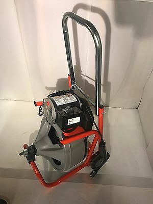 RIDGID 52363 K-400 Drum Machine- Solid Core Cable, Drain Cleaning Machine