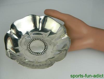 1938 TIFFANY & CO Makers Sterling Lotus Blossom Flower Nut Dish Bowl 22954