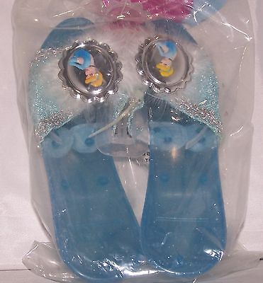 Disney Princess Dress Up Shoes Cinderella Blue Deluxe Jelly Ages 3+ 18229