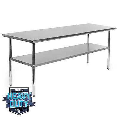 """Stainless Steel Commercial Kitchen Work Food Prep Table - 30"""" x 72"""""""