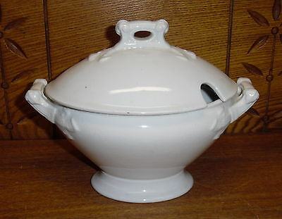 Nice SMALL Old Royal Stone China Ironstone Tureen - Maddock & Co Burslem England