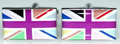 Union Jack Novelty Cufflinks UK British Flag Cuff Links, Mens Gifts New in a Box