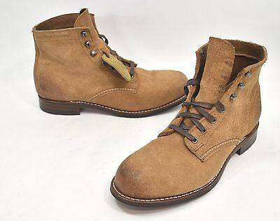 bce702301cf WOLVERINE 1000 MILE Morley Lace-Up Boot Tan Suede Burnished Toes/Heels Size  8 D