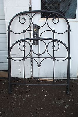 Contemporary Tubular Iron Single Bed Vintage Black Painted Twin