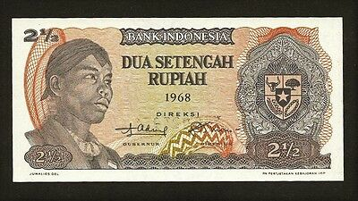 INDONESIA 2 1/2 1968 P103a UNC General Sudirman / rice harvest