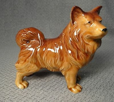 Antique KEESHOND Dog Figurine-Wonderful Expression Details