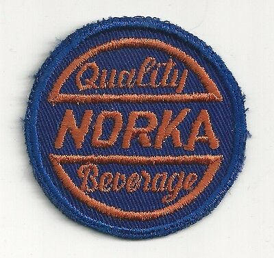 1940's Quality Norka Beverage Uniform Patch - Akron, OH