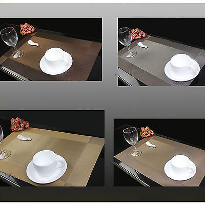 Table Placemats PVC Insulation Kitchen Dining Table Mats Pad Coasters Tableware